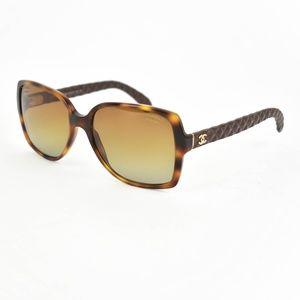 CHANEL: Tortoise Brown CC Polarized Sunglasses id